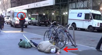Homeless Man On Crutches Falls Down On The Street, Watch What The People  Walking By Do…