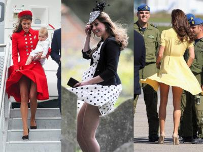30 Times Kate Middleton Showed Off A Little Too Much Fashion